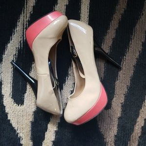 Taupe 3 inch heels